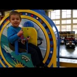 New indoor playground. Kids playing with motorcycle , blocks,  wheel fun, and more toys…
