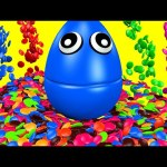 NEW M&M's Surprise Eggs 3D for Children to Learn Colors – Kids Candy Balls Rainbow Colours Learning