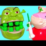 Nurse Peppa Pig Fix Shrek Rotten Root Canal Play Doh Doctor Drill 'N Fill Play Dough Dentist Shrek2