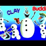 OLAF Clay Buddies Activity Book NEW 2016 Mold 4 Snowman Olaf Play Doh Surprise Disney Frozen