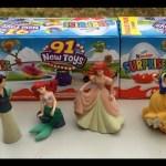 Open 6 Kinder Surprise Eggs