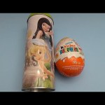 Opening Disney Fairies Can Filled with Surprise Eggs and Huge JUMBO Kinder Surprise Egg!