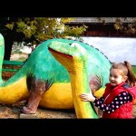 Outdoor playground fun for kids with Dino. Video from KIDS TOYS CHANNEL