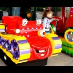 Outdoor playground fun for kids with some cars. Video from KIDS TOYS CHANNEL