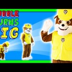 PAW PATROL In Real Life Rubble the Giant Takes Wiggles TheEngineeringFamily Funny Kids Toys Video