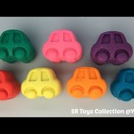 Play and Learn Colours with Glitter Playdough Cars Fun & Creative for Kids