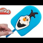Play Doh How to Make a Disney Frozen Olaf Ice Cream Popsicle RainbowLearning