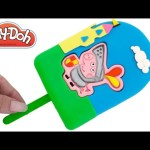 Play-Doh How to Make a Giant Peppa Pig George Ice Cream Popsicle Creative for Kids RainbowLearning