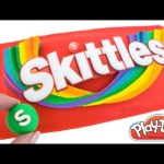 Play Doh How to Make a Giant Skittles Pack with Play Doh DIY RainbowLearning