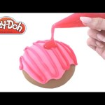 Play Doh How to Make a Giant SLIME Jelly Donut DIY RainbowLearning