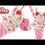 Play Doh How to Make a Hello Kitty Ice Cream Sundae RainbowLearning