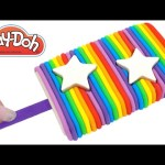 Play Doh How to Make a Rainbow Star Popsicle * Creative DIY for Kids * RainbowLearning