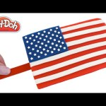 Play Doh How to Make a Stars & Stripes Ice Cream Popsicle DIY RainbowLearning
