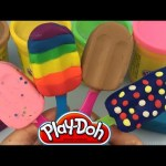 Play Doh Ice Cream Popsicles diy Play Dough Rainbow Ice Cream by SR Toys Collection
