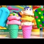 Play-Doh Scoops n' Treats Ice Cream Popsicles – Helados de Colores PlayDough Friandises Glacées