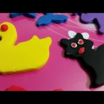 Play doh set video with animals. Children make animals: cow, dolphin, cat, horse, dogy, duck,