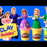 Play Doh Sofia the First Clay Buddies Royal Family Activity Princess Amber & Prince James Dough set