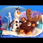 Play Doh Sparkle Snow Dome Disney FROZEN Olaf Sven Elsa Anna – Play Doh Brillante Globo de Nieve