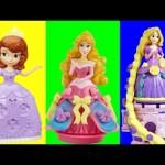 Play Doh Sparkle Sofia Disney Frozen Anna Elsa Ariel Rapunzel Play Doh con Brilho Glitter Brillante