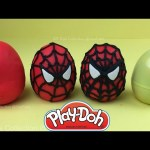 Play Doh Spider Man Surprise Eggs Minnie Mouse Daisy Duck Toys by SR Toys Collection