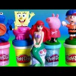 Play-Doh Stampers The Little Mermaid Ariel, Cookie Monster, Peppa Pig Play-Doh Confetti