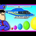 Police for Kids – 3D Surprise Eggs Smallest to Biggest – Learn Colors and Sizes
