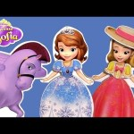 Princess Sofia the First Wooden Playhouse Castle Dress-up Dolls  – Muñecas magnéticas de madera