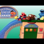 Sesame Street Tune-Up Garage Shop Race Cars Cookie Monster Elmo Mater Luigi Guido by Disneycollector