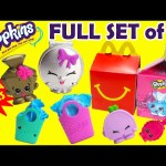 Shopkins McDonalds Happy Meal Toys FULL SET of 16