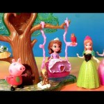 Sofia the First Forest Playset Play Doh Peppa Pig Disney Frozen Dolls Princess Anna Elsa