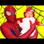Spiderman Baby Sitting FAIL Superhero Spider Man IRL Newborn Batman Babysitting In Real Life Part 2