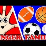 SPORTS BALLS Finger Family | Songs For Kids | Surprise Eggs Animation for Children | Nursery Rhymes