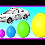 STREET VEHICLES for KIDS | Surprise Eggs Smallest to Biggest! Learn Sizes with Surprise Eggs