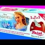 SURPRISE Disney Cinderella 3D Film Chocolate Eggs 3-pack Zaini same as Kinder Huevos Sorpresa