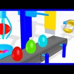 Surprise Egg Machine 3D for Kids to Learn Colors | Surprise Eggs with Color Balls inside!