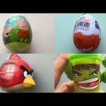 Surprise eggs peppa pig kinder sorpresa angry birds play doh marvel hulk kinder joy 킨더 서프라이즈 에그 에그몽