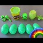 Surprise Eggs Play-Doh Learn To Spell! Colors! Lesson 2