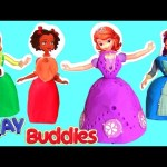 Surprise Sofia the First Clay Buddies with BFF Ruby Princess Amber Hildegard Play Doh Surprise