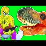 T-Rex vs Spiderman vs Joker – Dinosaur Attack! Spider-man Kidnapped! Superhero Movie In Real Life