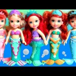 The Little Mermaid Ariel with Mermaids Sisters Set Attina Aquata Disney Petite Baby Doll