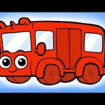 ♪ The wheels on the Bus go round and round Song ♪ nursery rhyme  – Morphle's Nursery Rhymes
