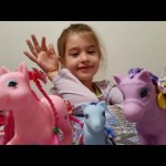 Toys for girls.Unboxing Pony( toy horses).
