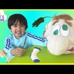 What's in Ned's Head Family Fun Game for Kids Egg Surprise Toys Ryan ToysReview
