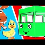 Wheels On The Bus | Animal Family | Nursery Rhymes | Songs for Children by Animated Surprise Eggs TV