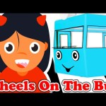 Wheels On The Bus   HALLOWEEN Family   Nursery Rhyme – Song for Children   Animated Surprise Eggs