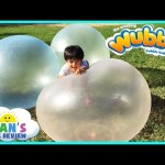 WUBBLE BUBBLE BALL Family Fun playtime outside with GIANT BALL kids Video Ryan ToysReview