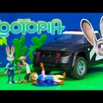 ZOOTOPIA Disney Officer Judy's Police Cruiser Jail  Toys Video