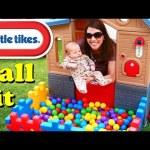 LITTLE TIKES Huge Go Green Playhouse Giant Waffle Blocks Baby Ball Pit Fun House by DisneyCarToys
