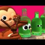 Ten Green Bottles | Nursery Rhymes | By LittleBabyBum!