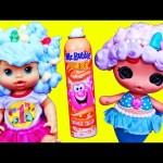 Lalaloopsy Baby MERMAID Bath Toy Mr Bubble Bath Foam Hair Design Baby Alive Surprise Foam Bath Toys